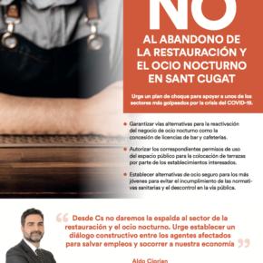 NO al abandono de la restauración y el ocio nocturno en Sant Cugat
